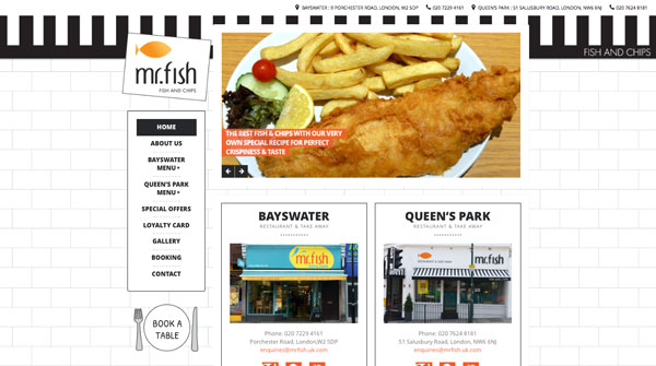 Mr Fish WordPress Restaurant Project